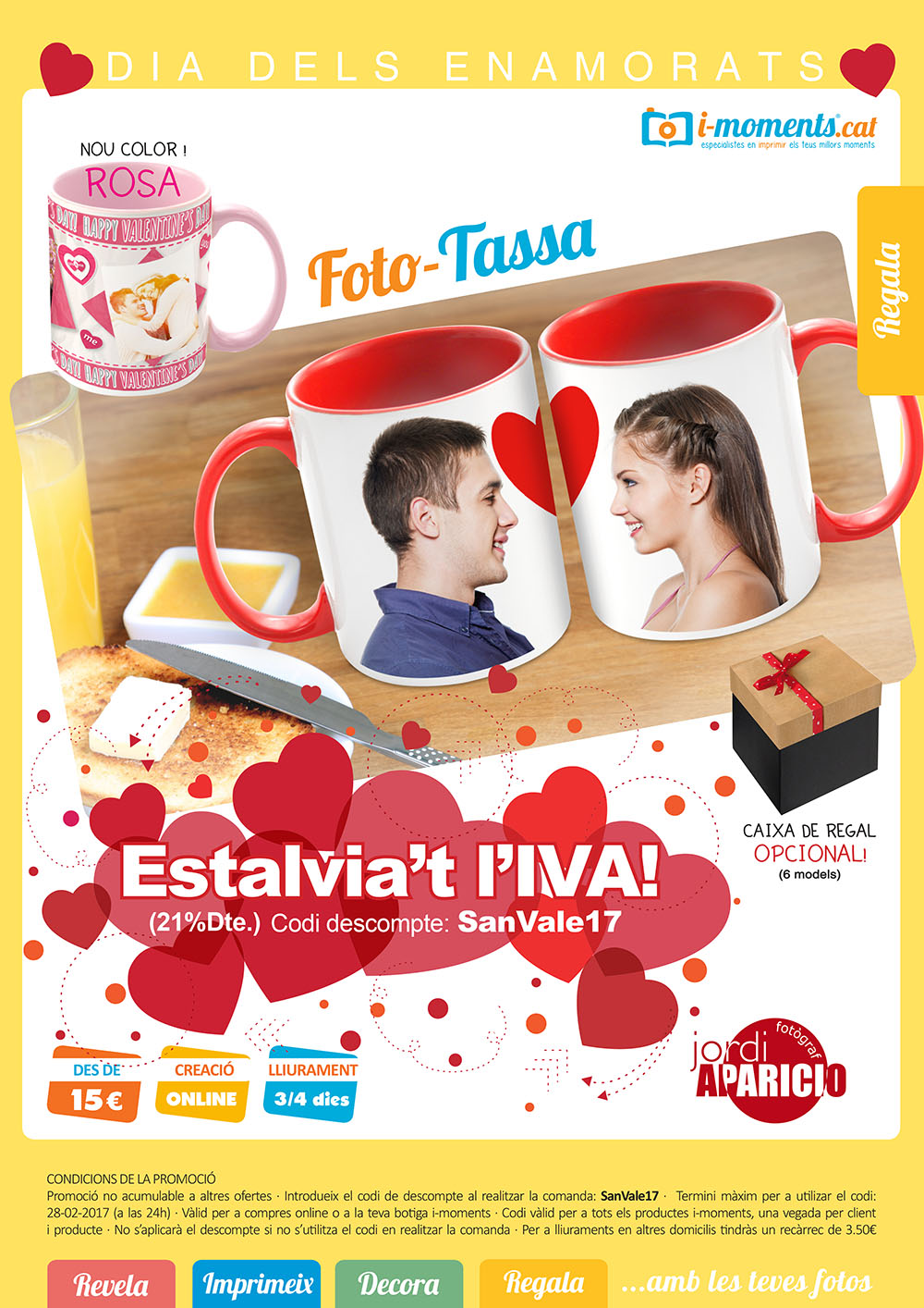 Regala Tasses per Sant Valentí amb i-moments